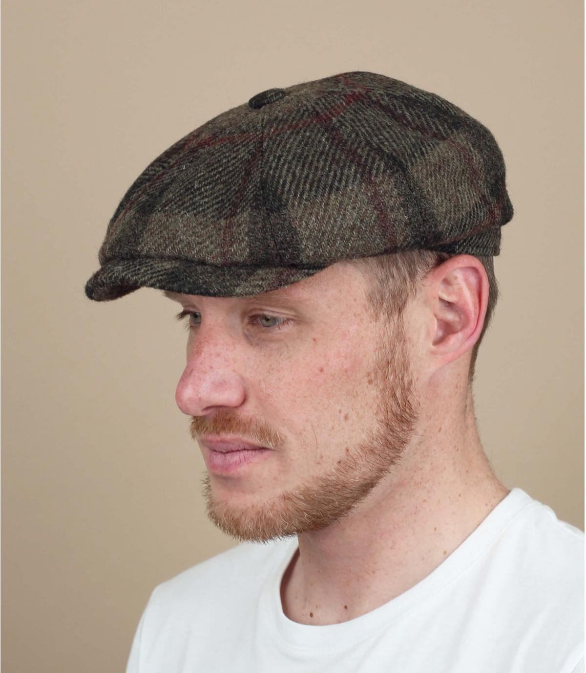 wool newsboy cap squares