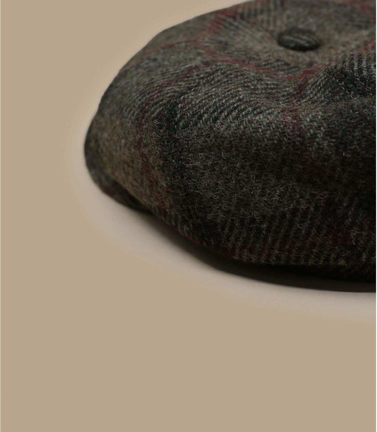 Détails Hatteras Virgin Wool check beige olive - image 2
