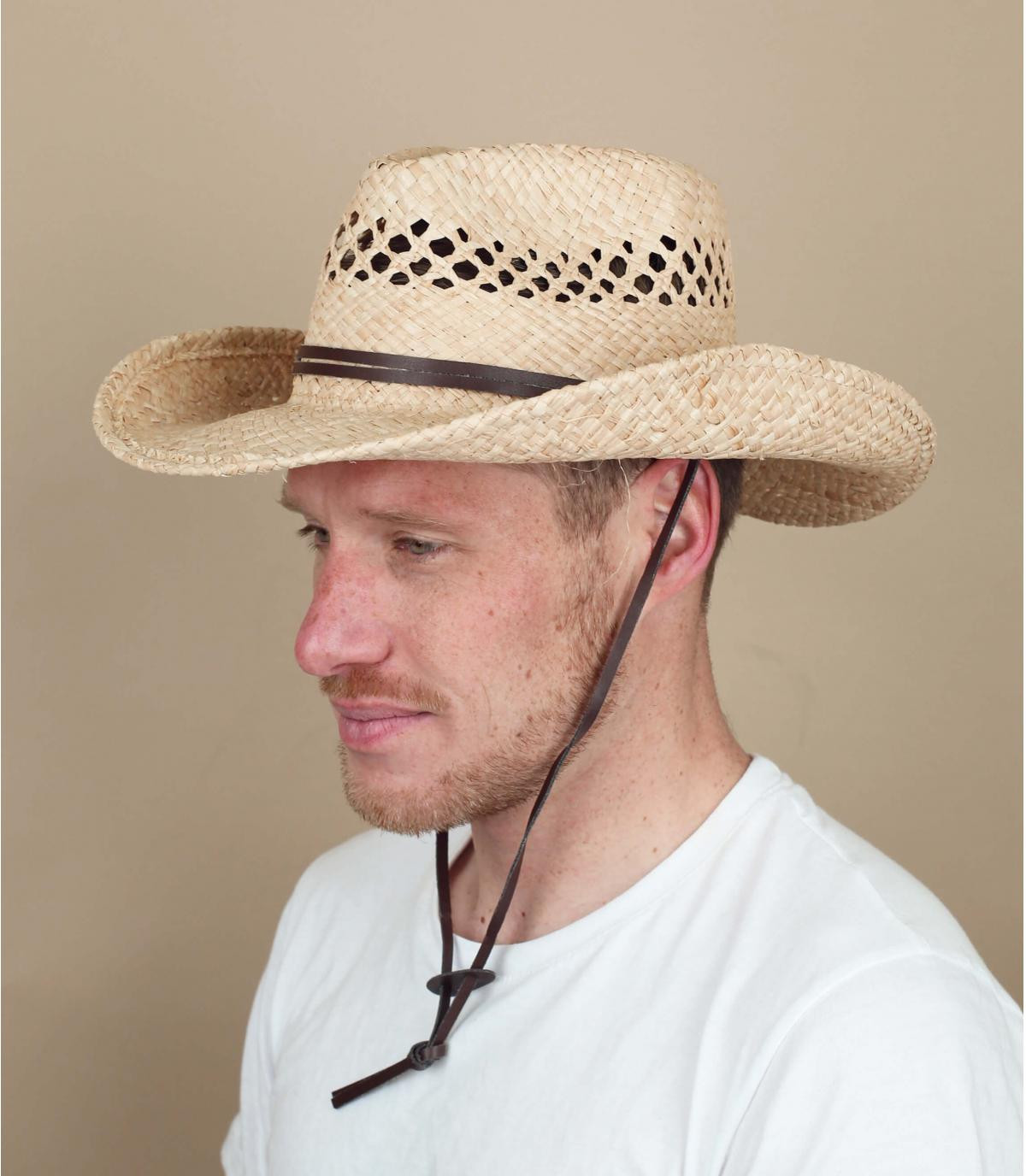 Stetson cowboy straw hat