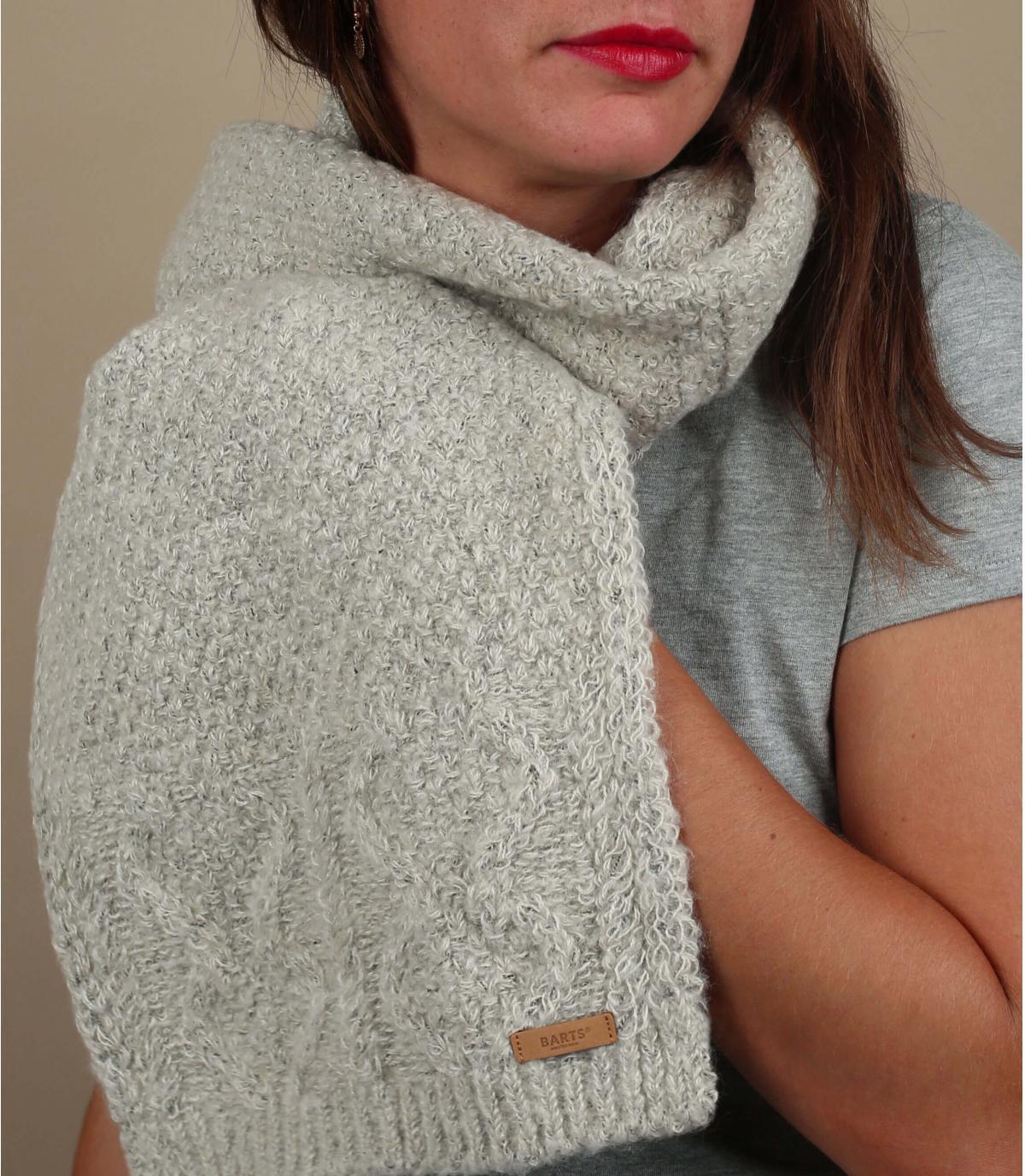 beige scarf twist