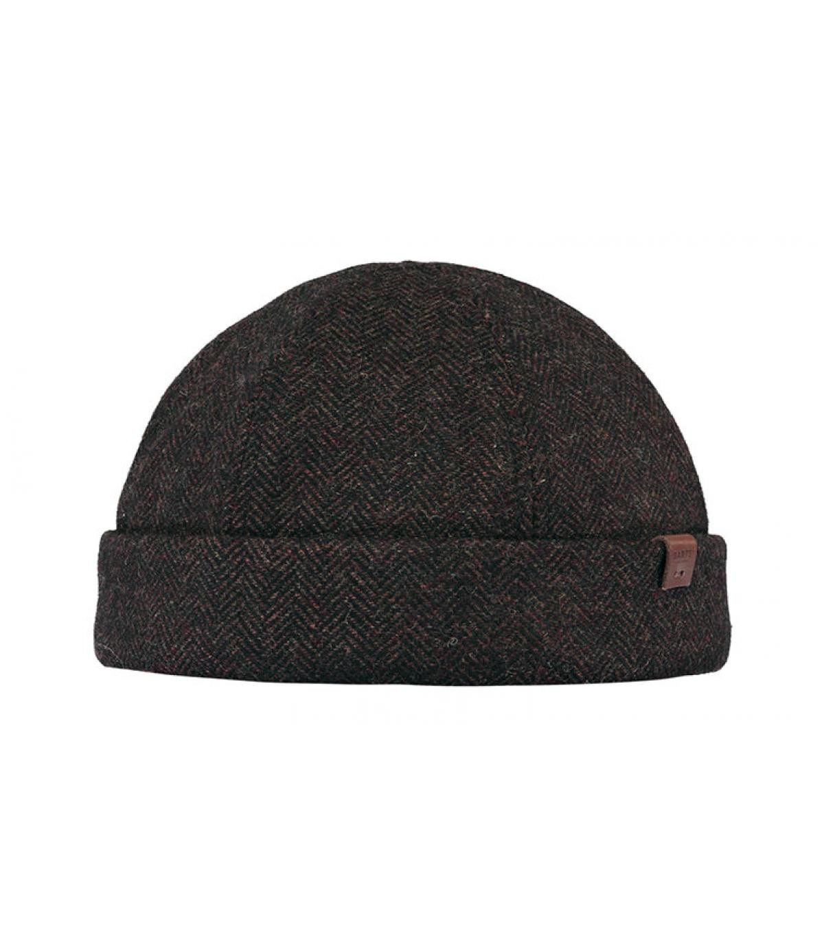 brown docker beanie wool