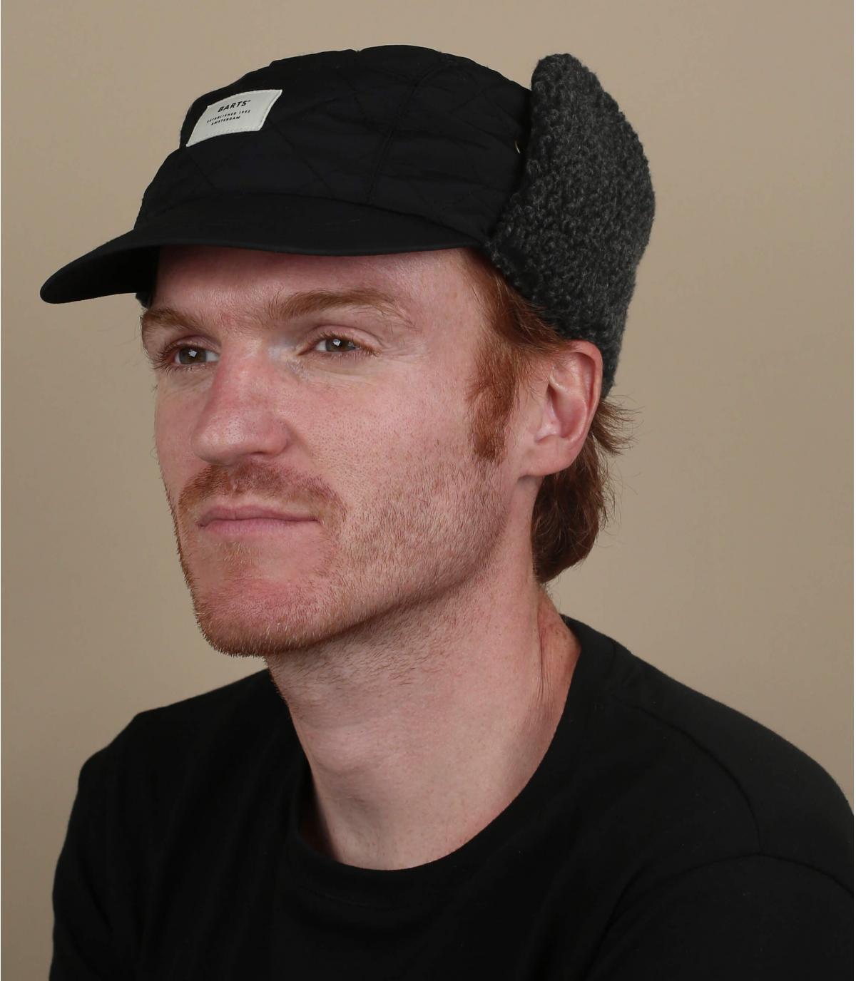 Winter cap ear protector black