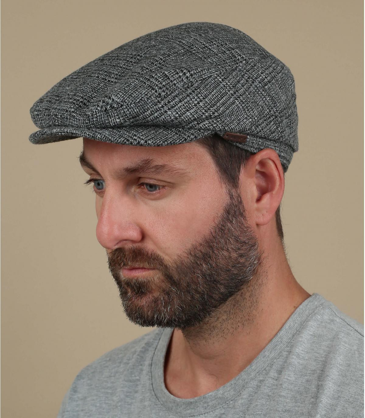 grey wool flat cap Barts