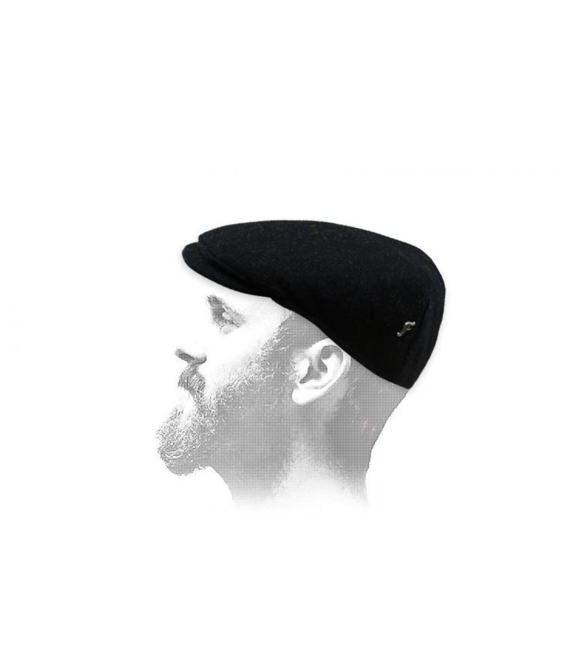 black tweed flat cap Fléchet