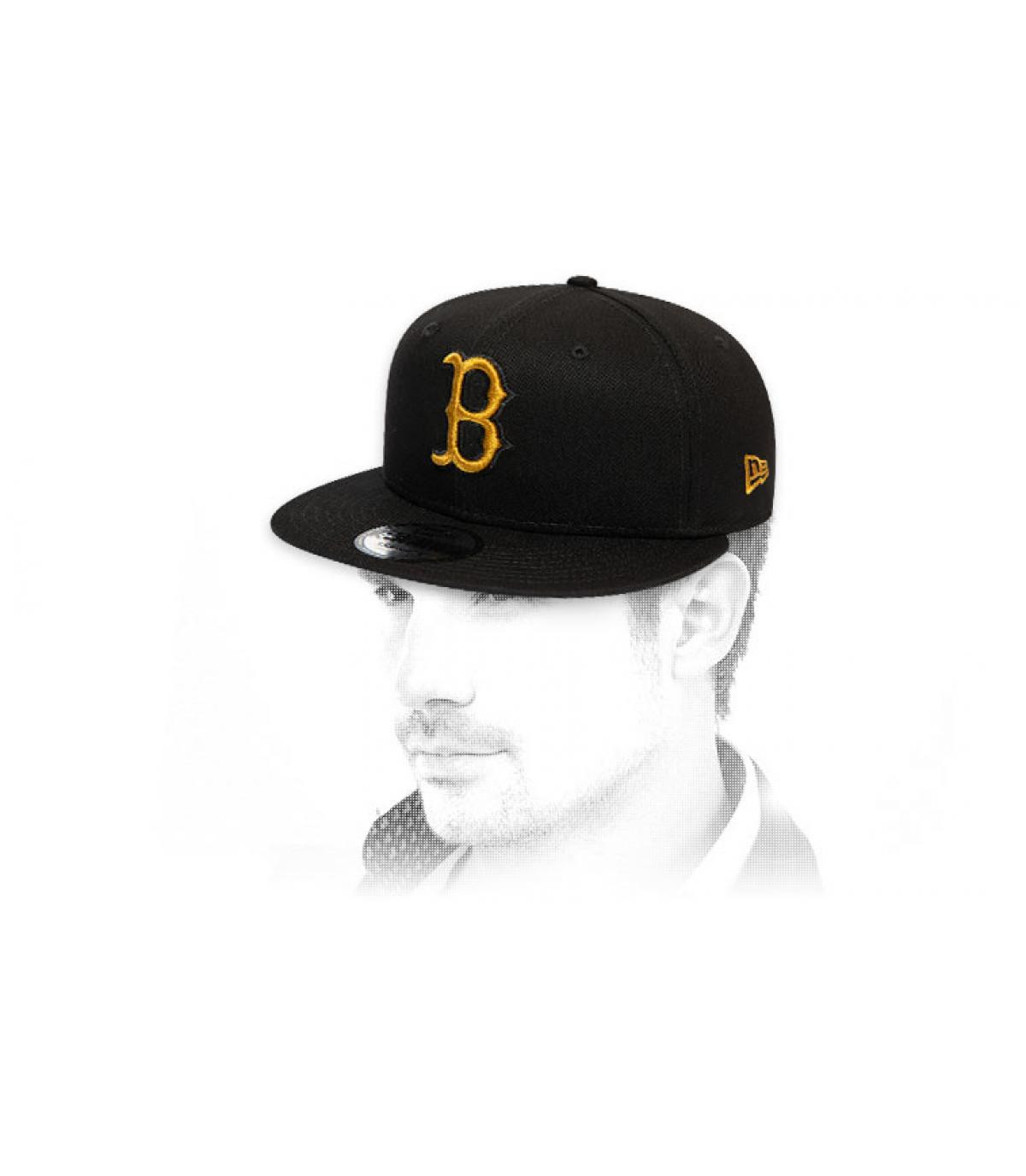 black gold Boston snapback