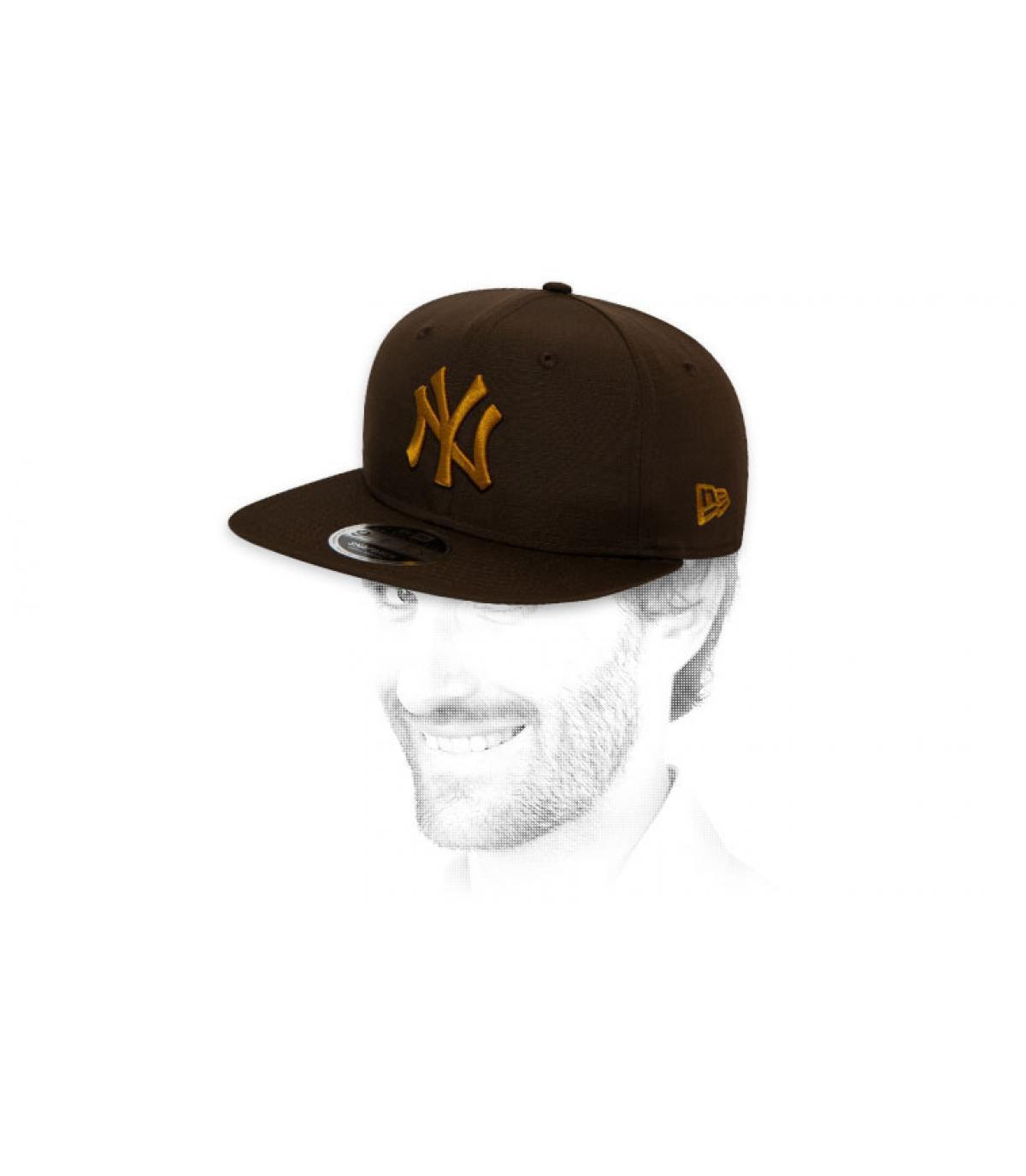 black gold NY snapback