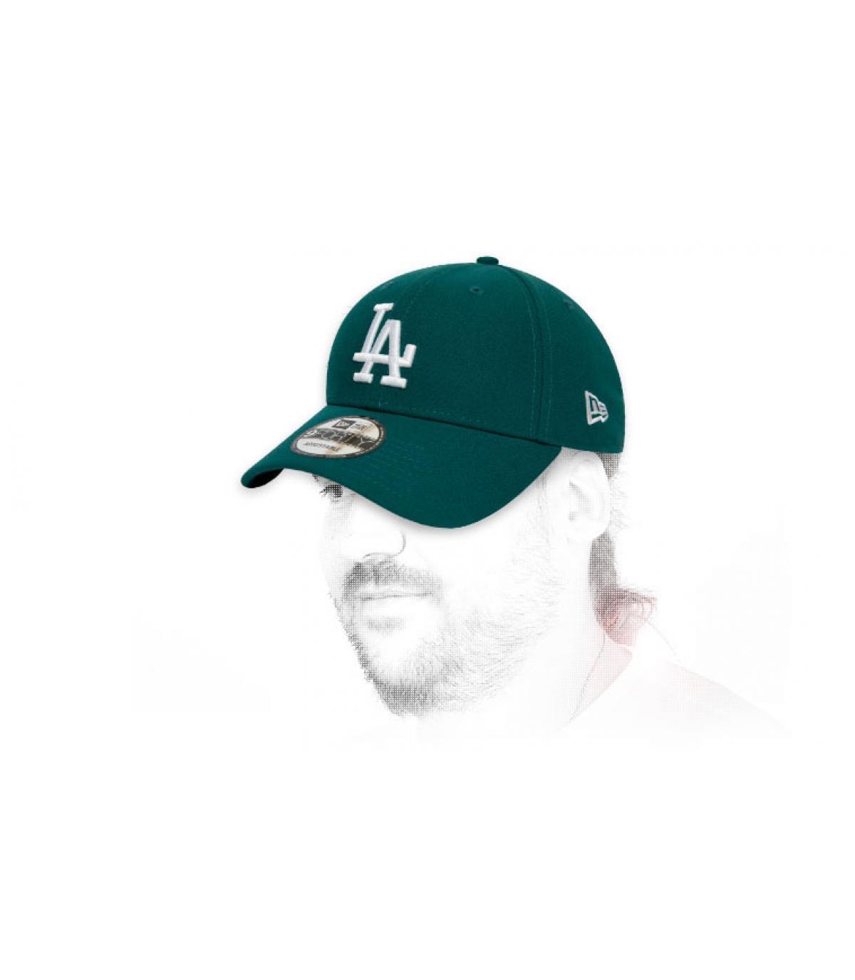 LA cap green white