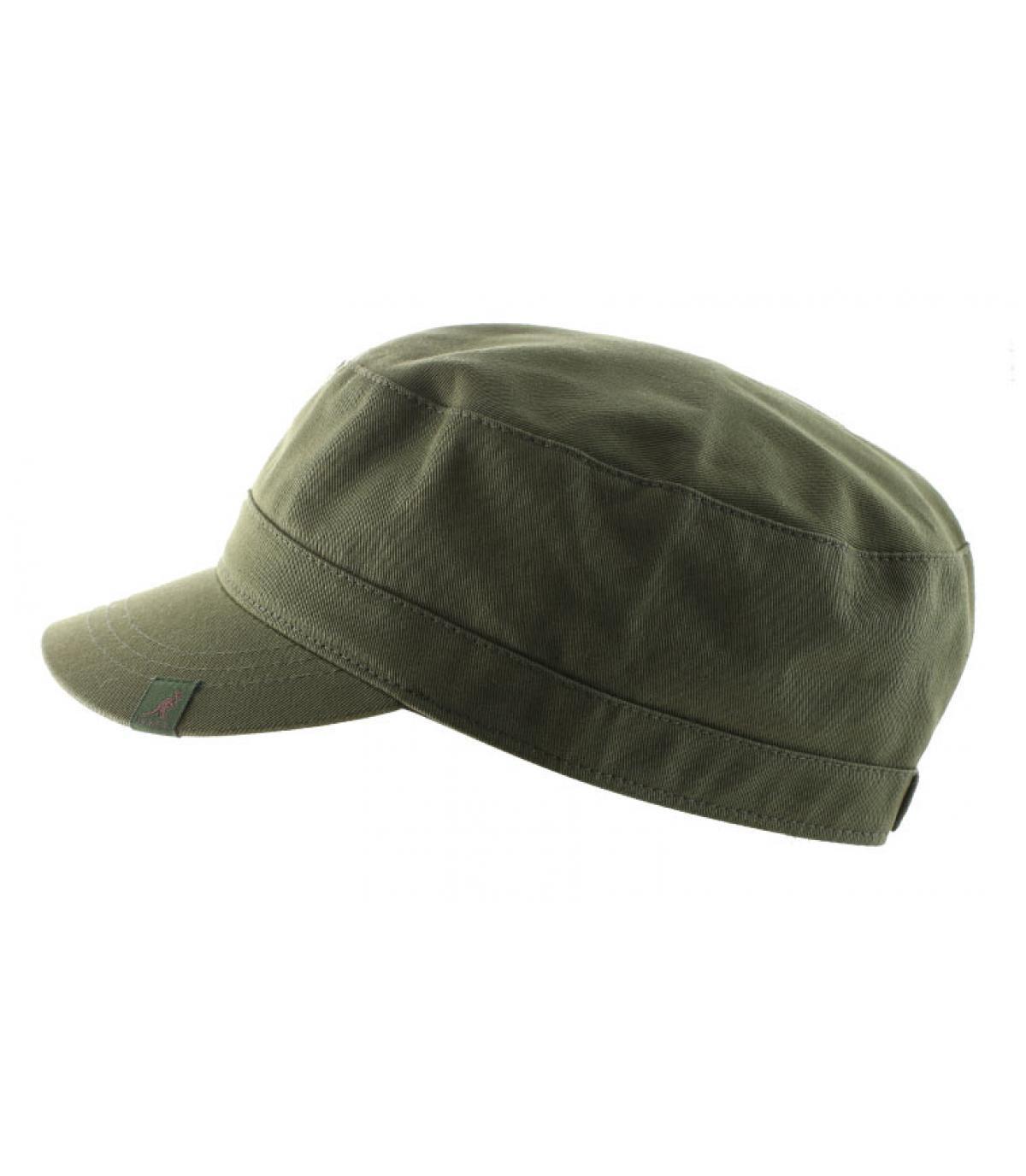 Détails Cotton twill army cap beige - image 2