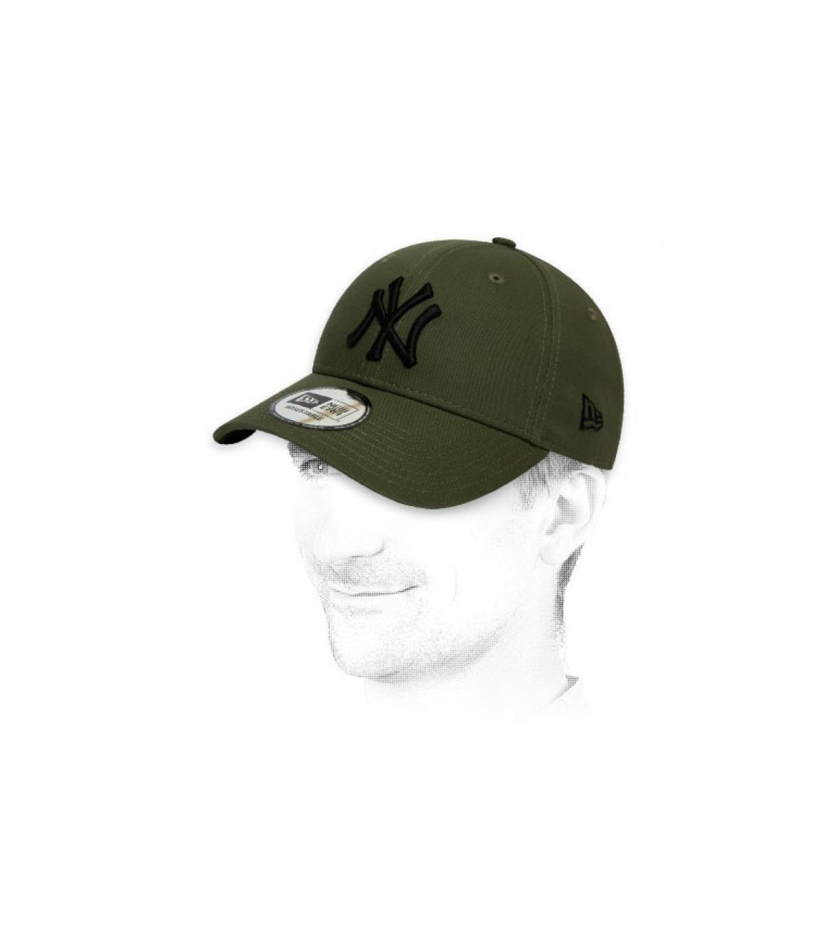 black green NY cap