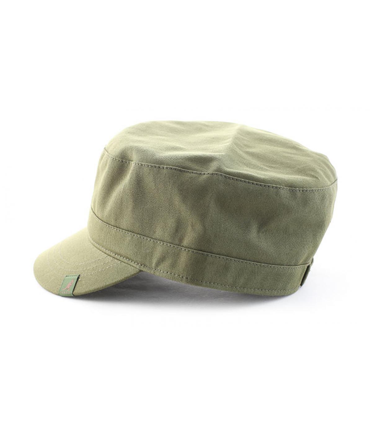 Détails Cotton twill army cap beige - image 4