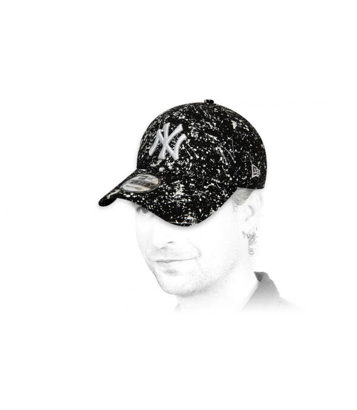black printed NY cap