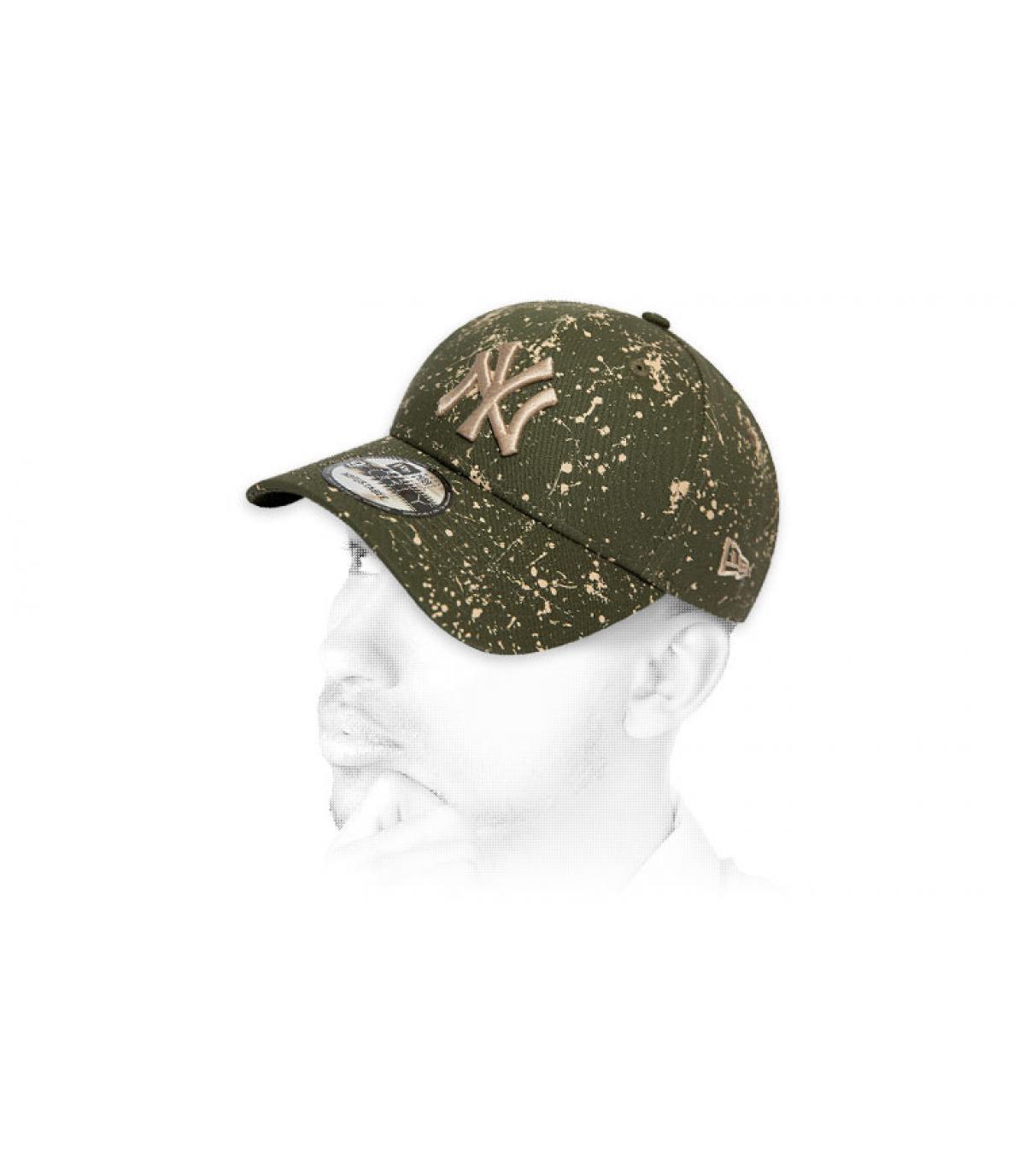 green printed NY cap