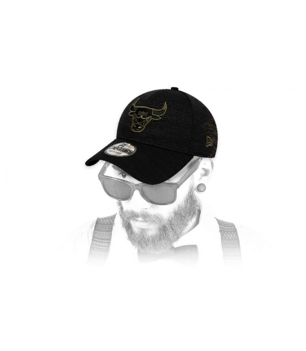 black green Bulls cap