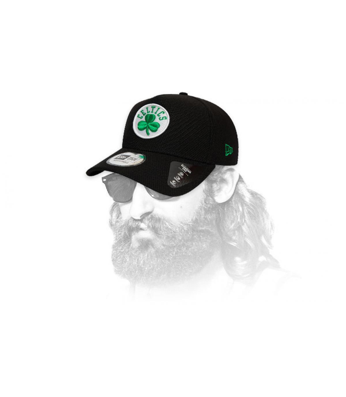 black Celtics cap logo