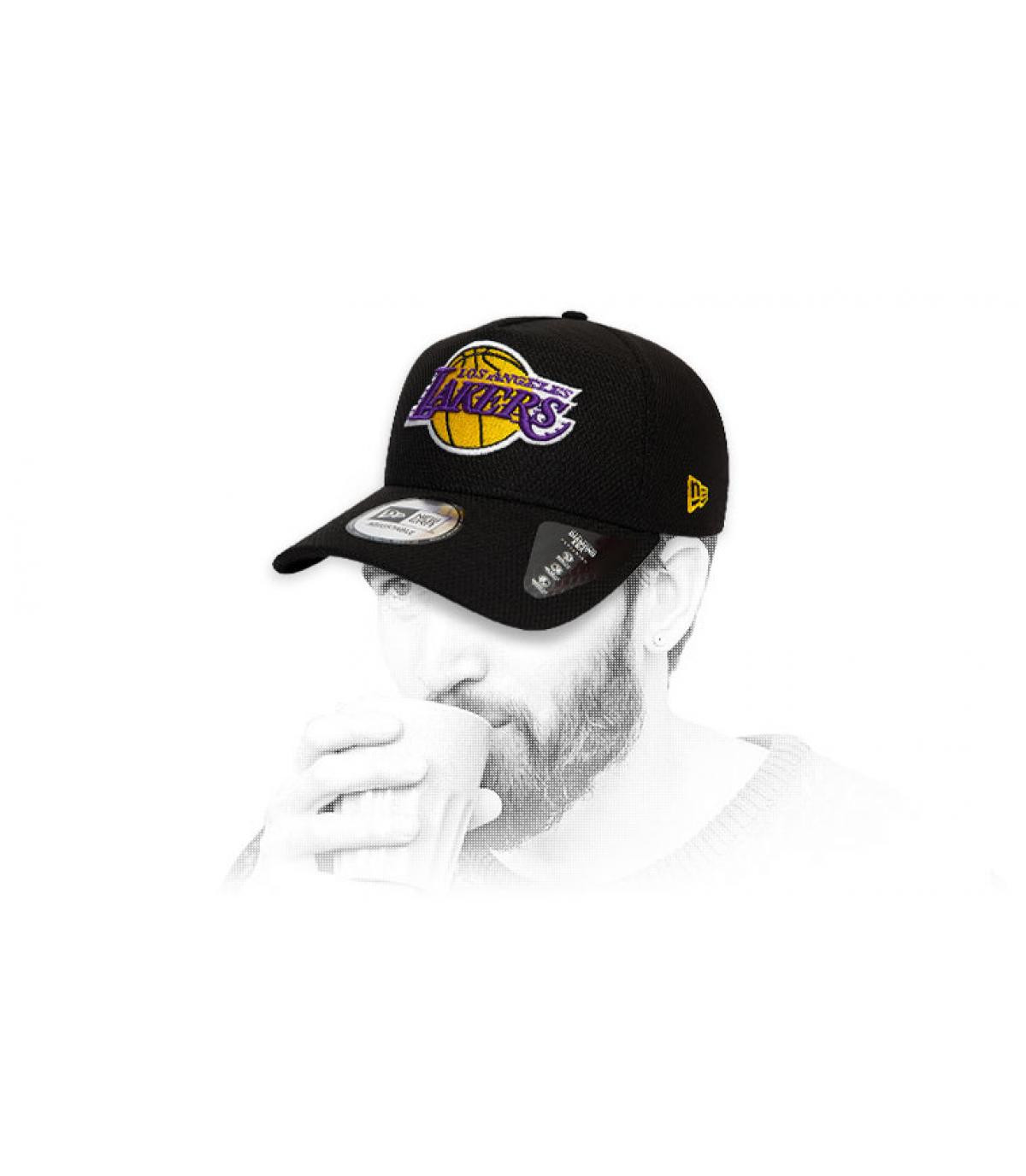 black Lakers cap logo