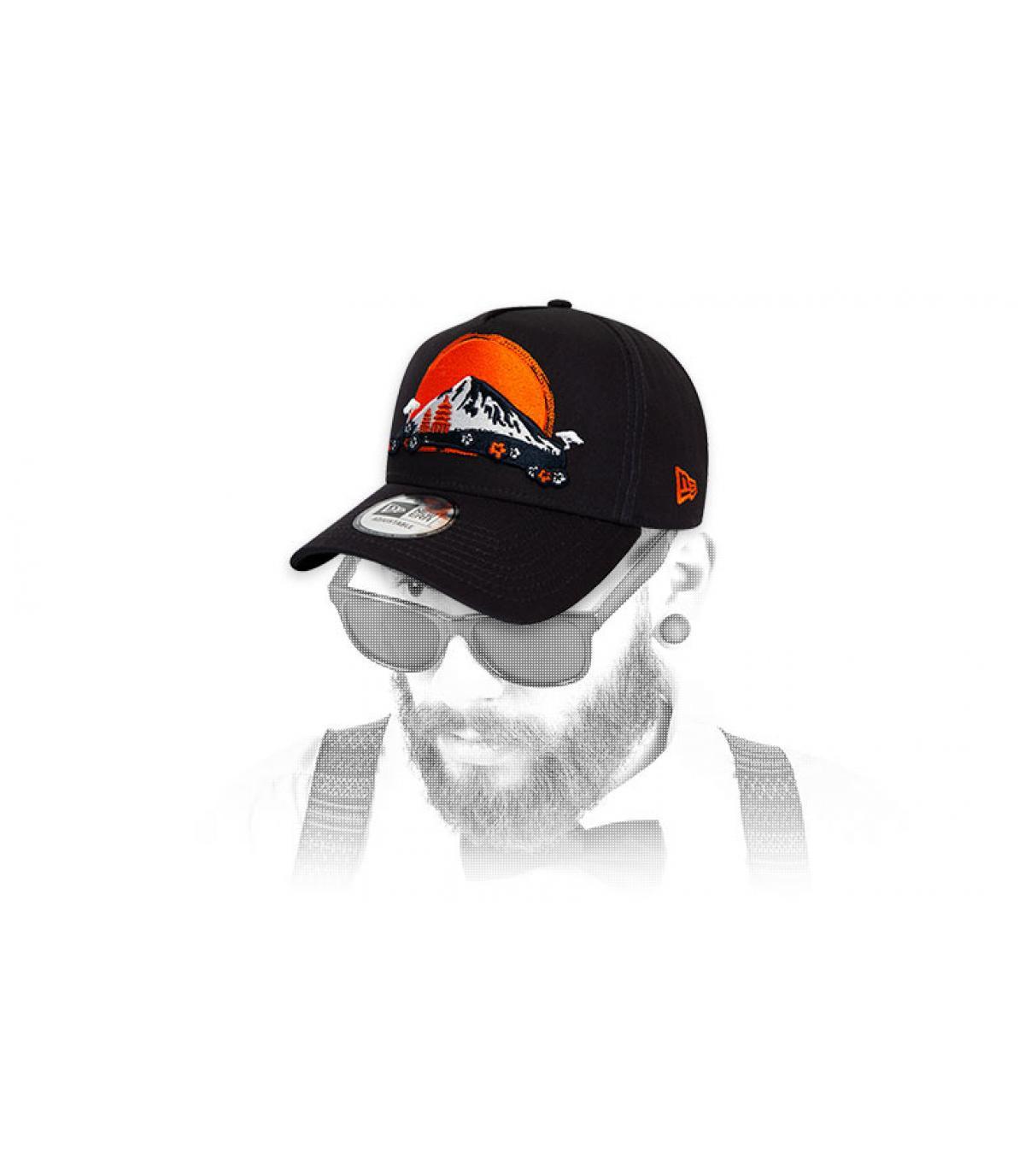 blue New Era embroidered cap