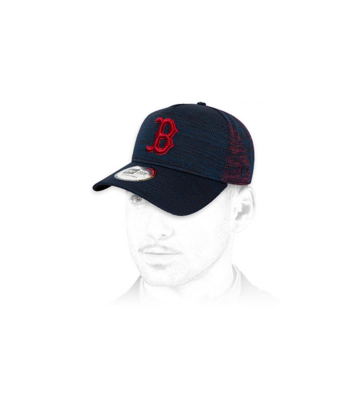 B cap blue red