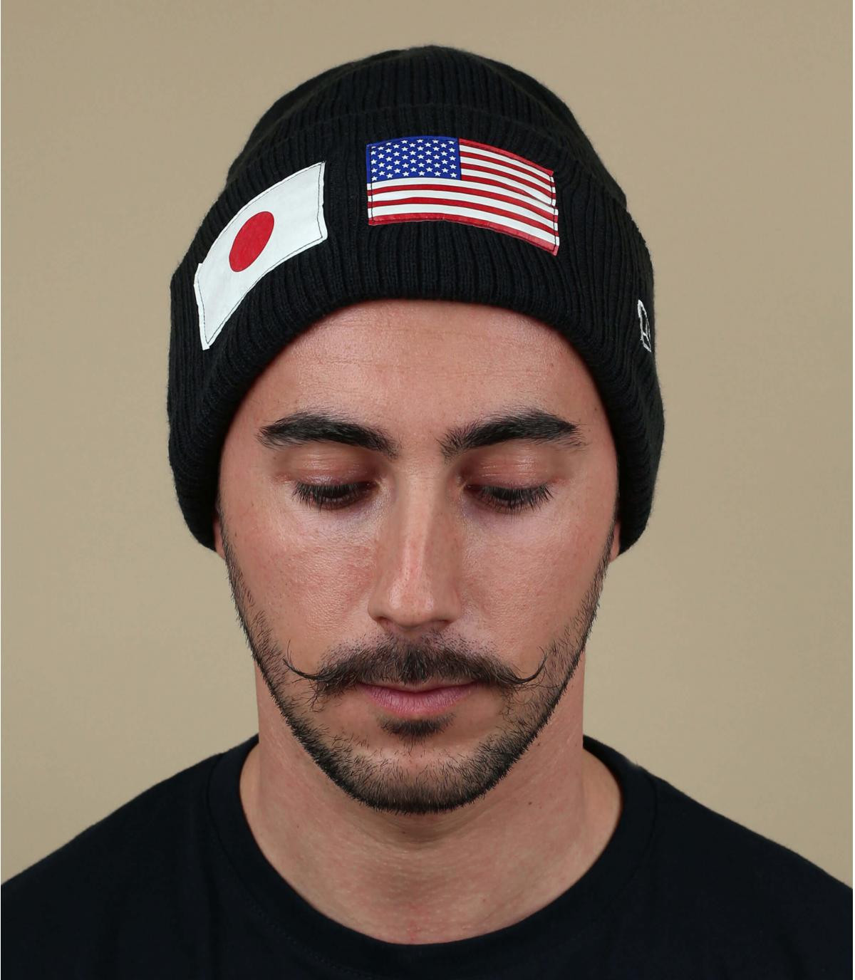 black US flag beanie