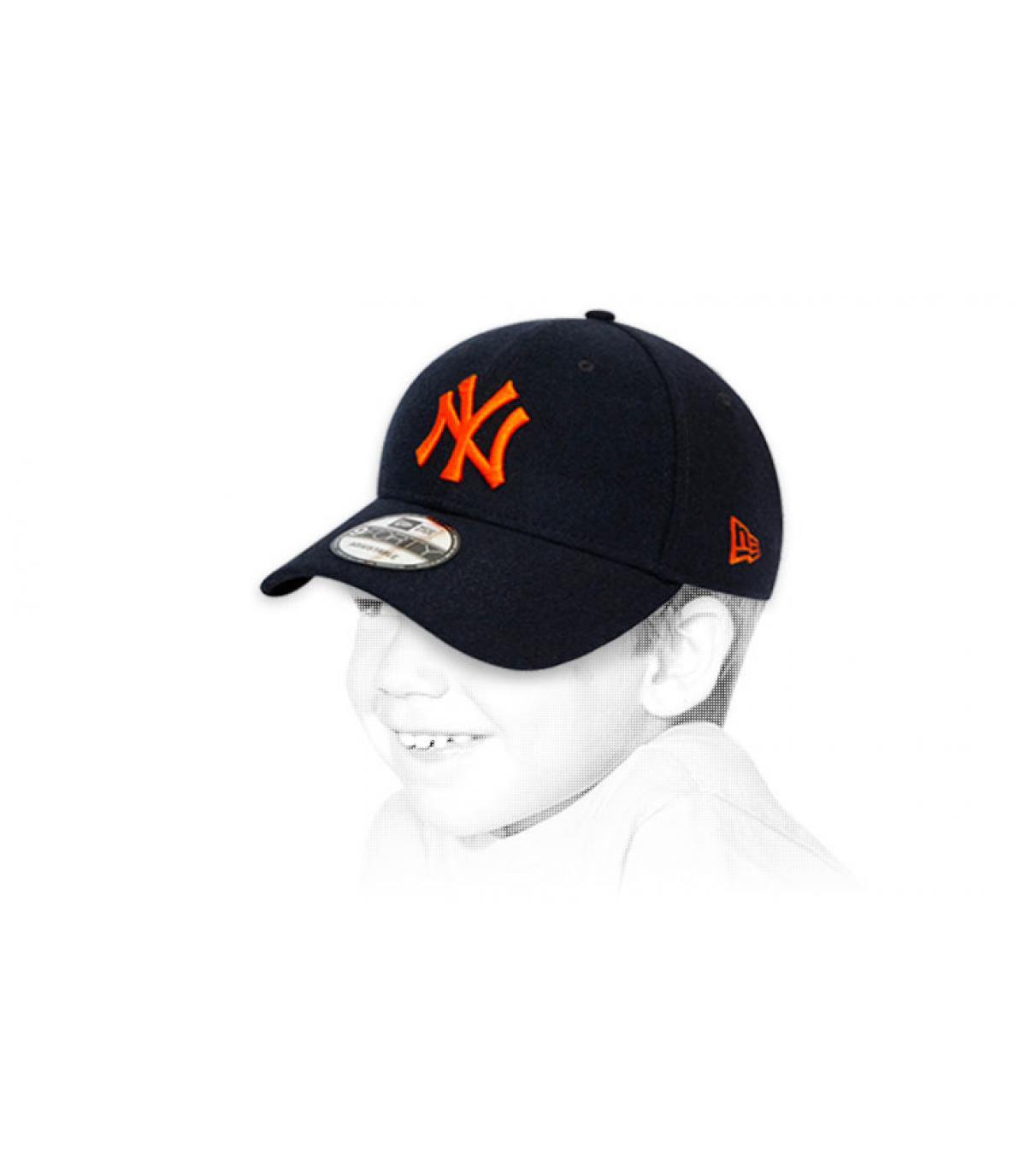 black NY children cap