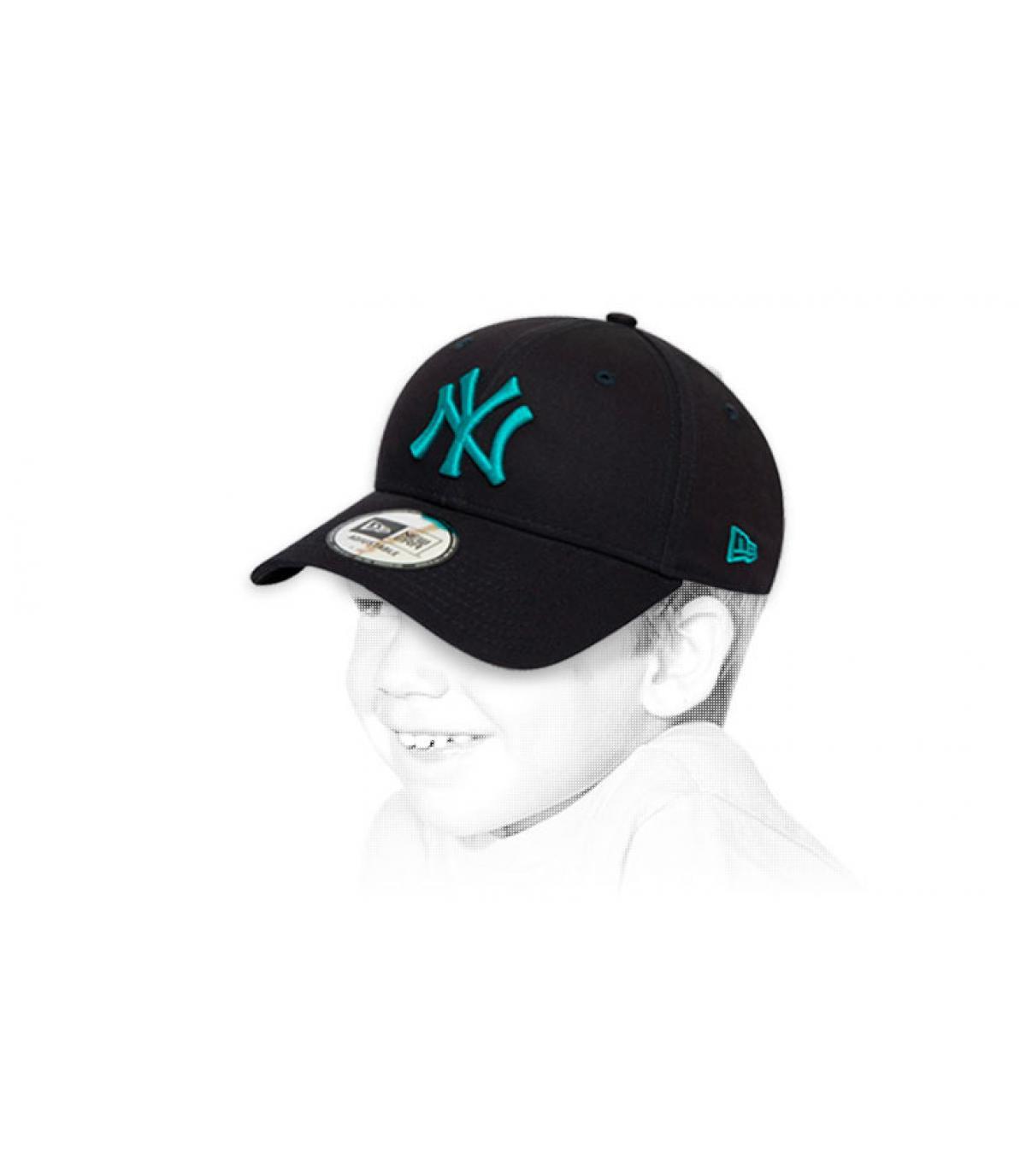 kids blue NY cap