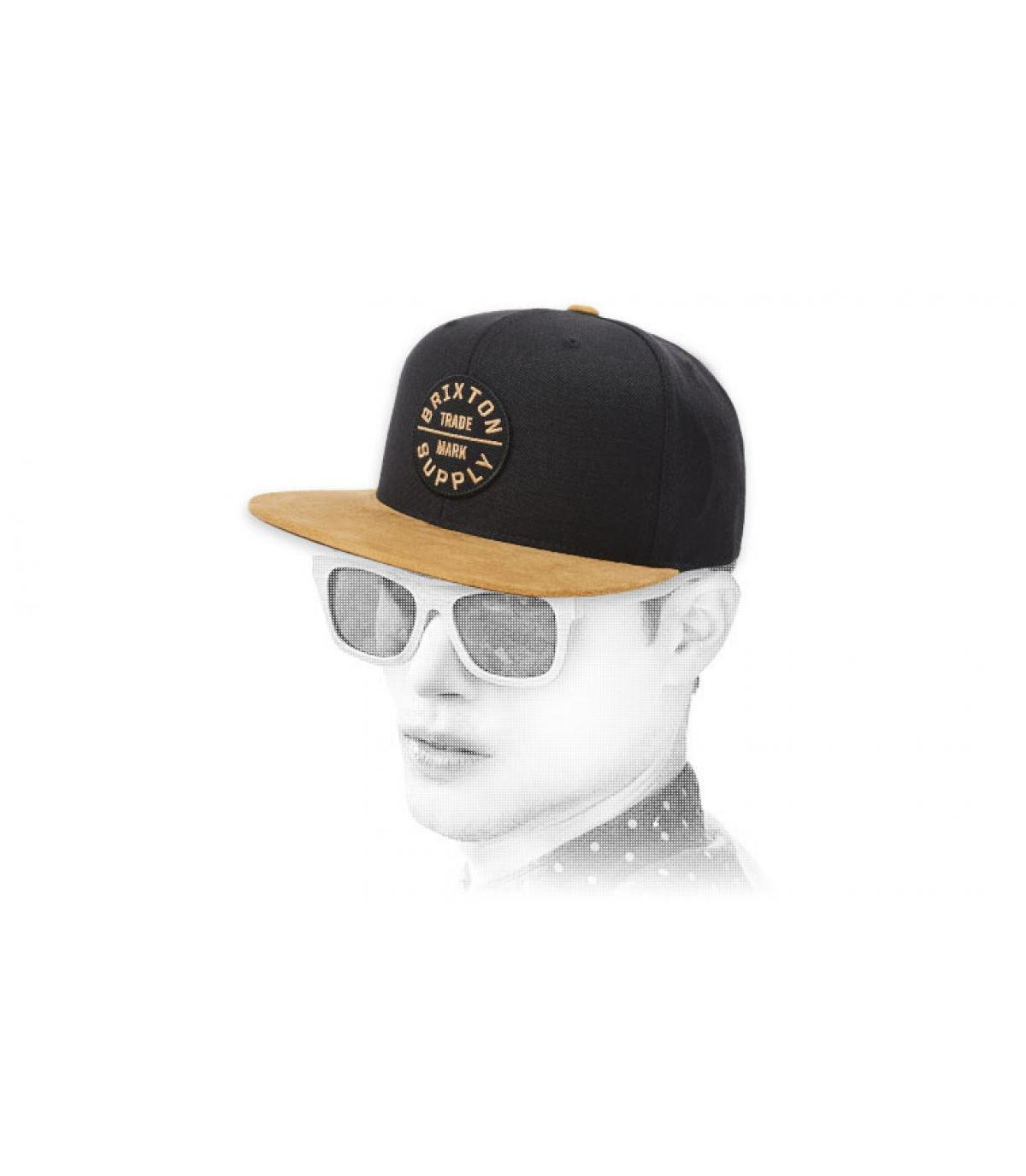 black beige Brixton snapback