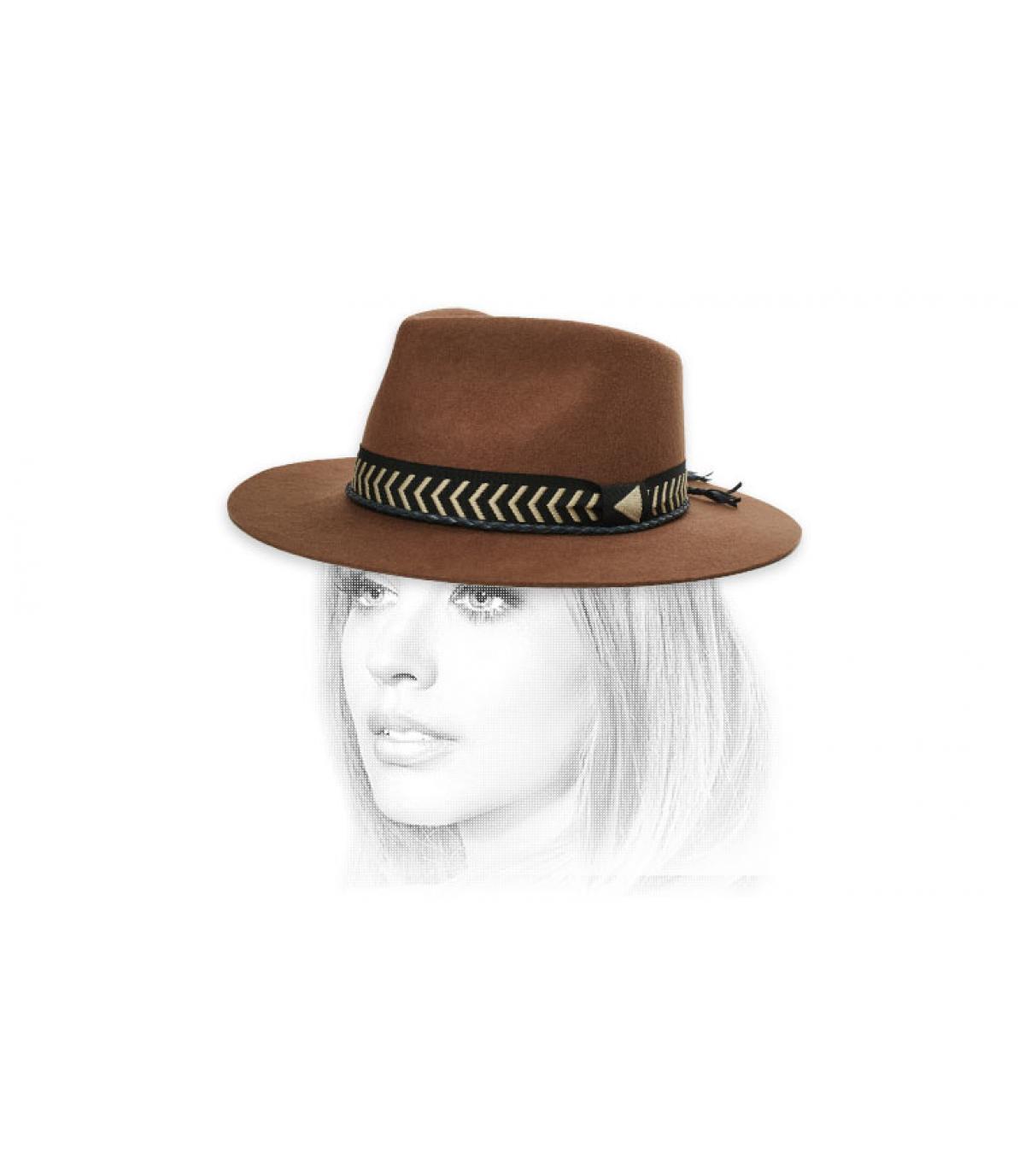 felt hat braided ribbon