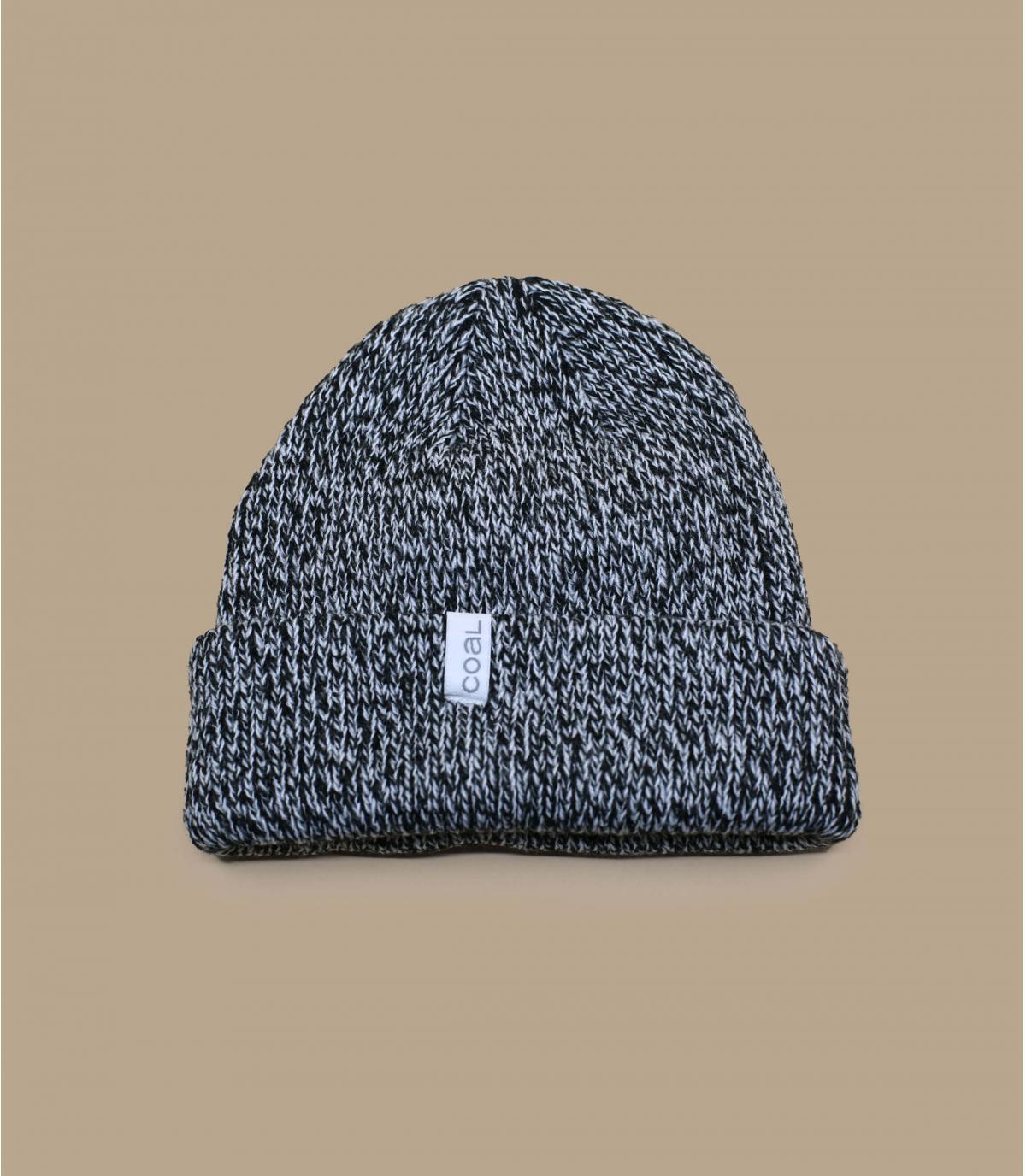Coal heather black cuffed beanie
