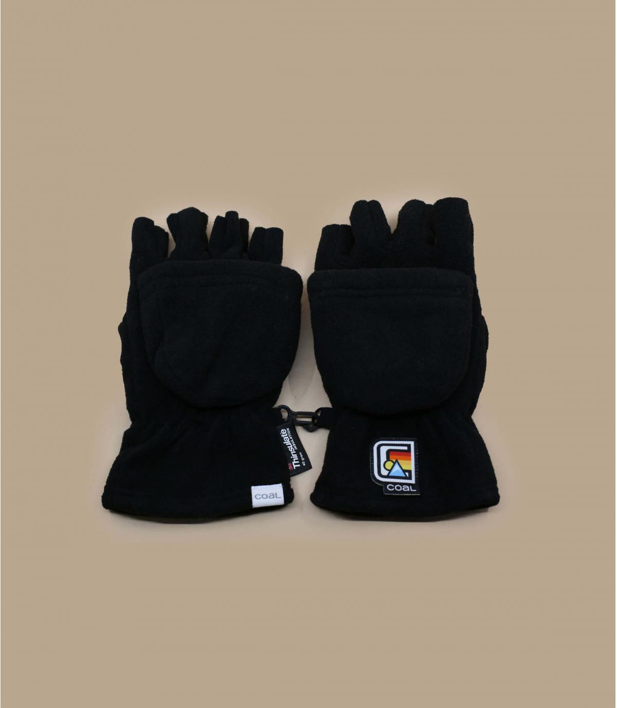 black mitten gloves Coal