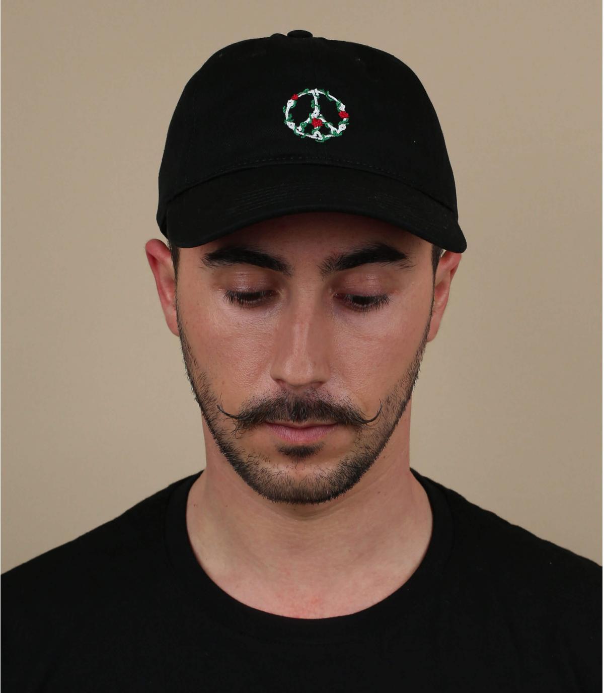 black peace cap
