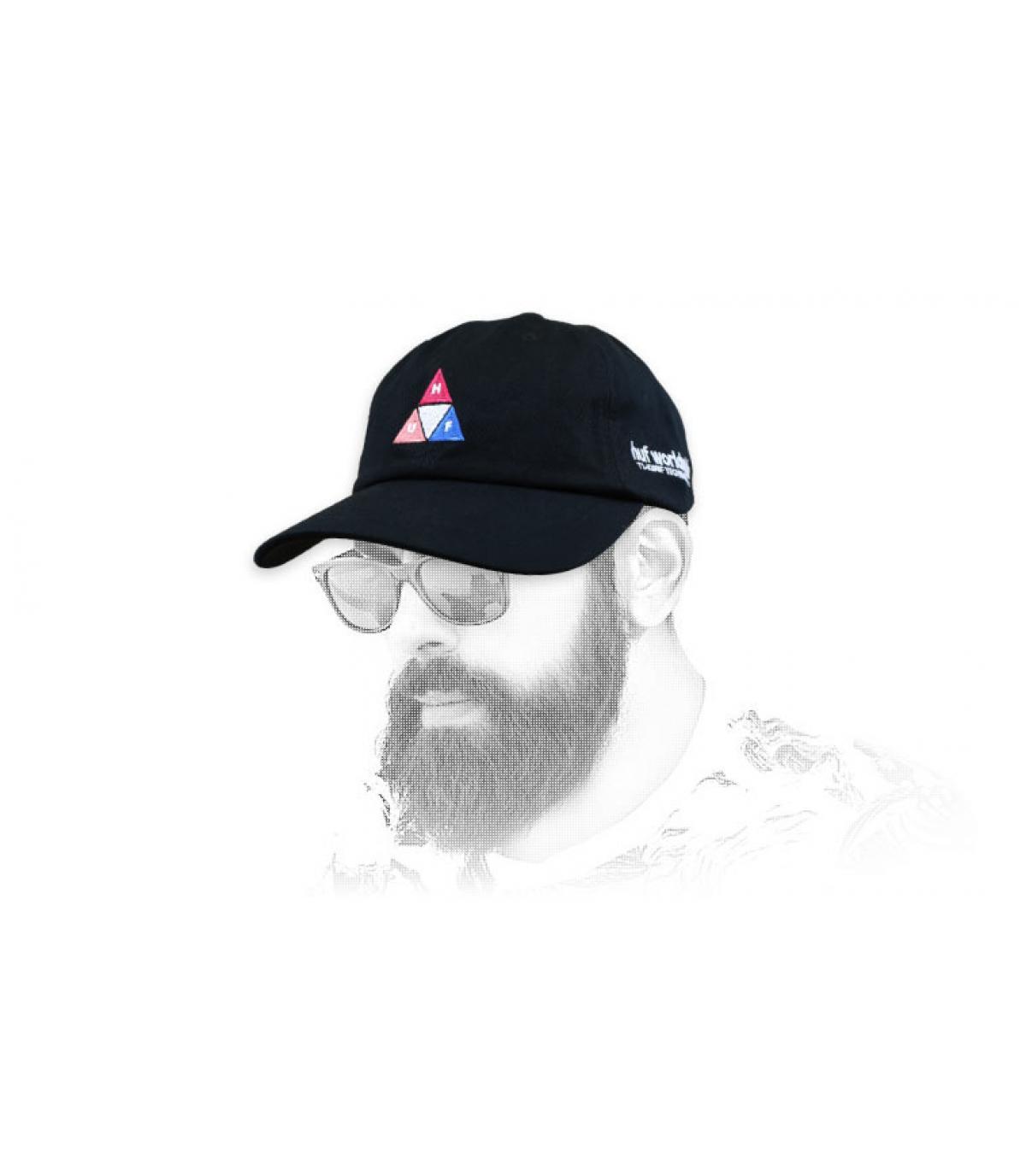 Huf cap triangle logo black