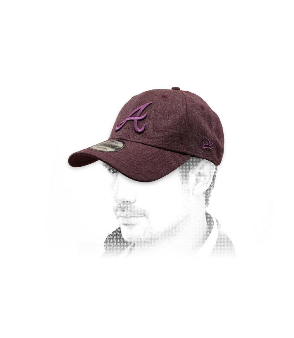 burgundy A cap