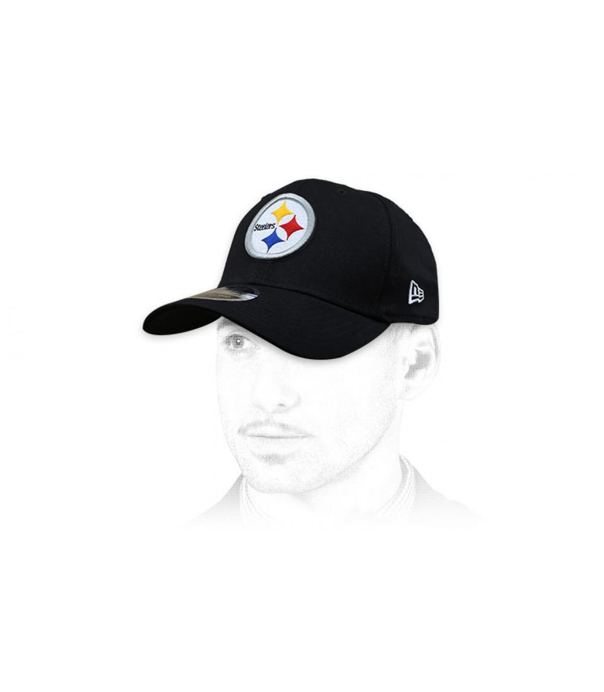 black Steelers cap