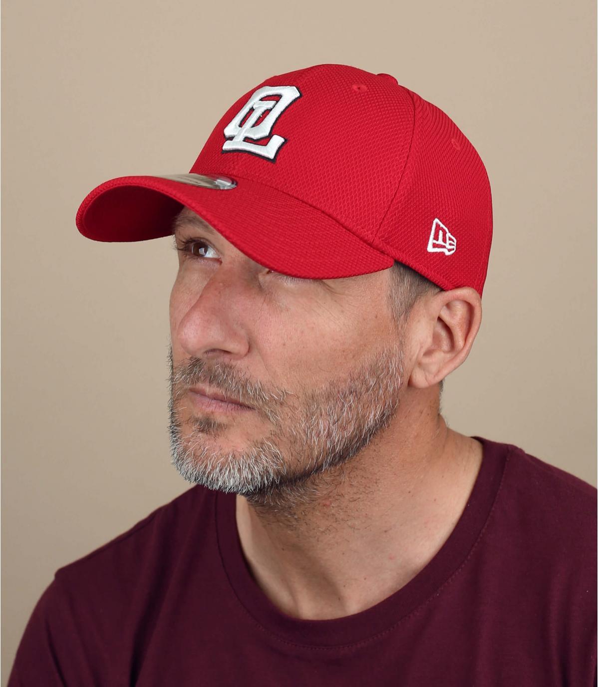 red OL cap