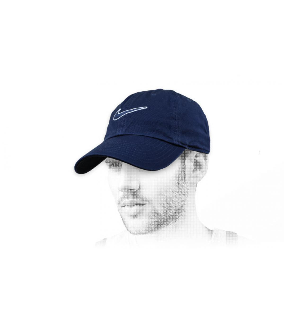 black Nike cap swoosh