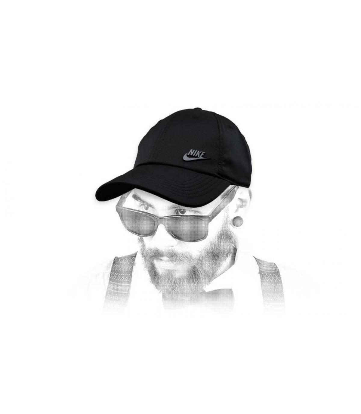 black Nike cap logo