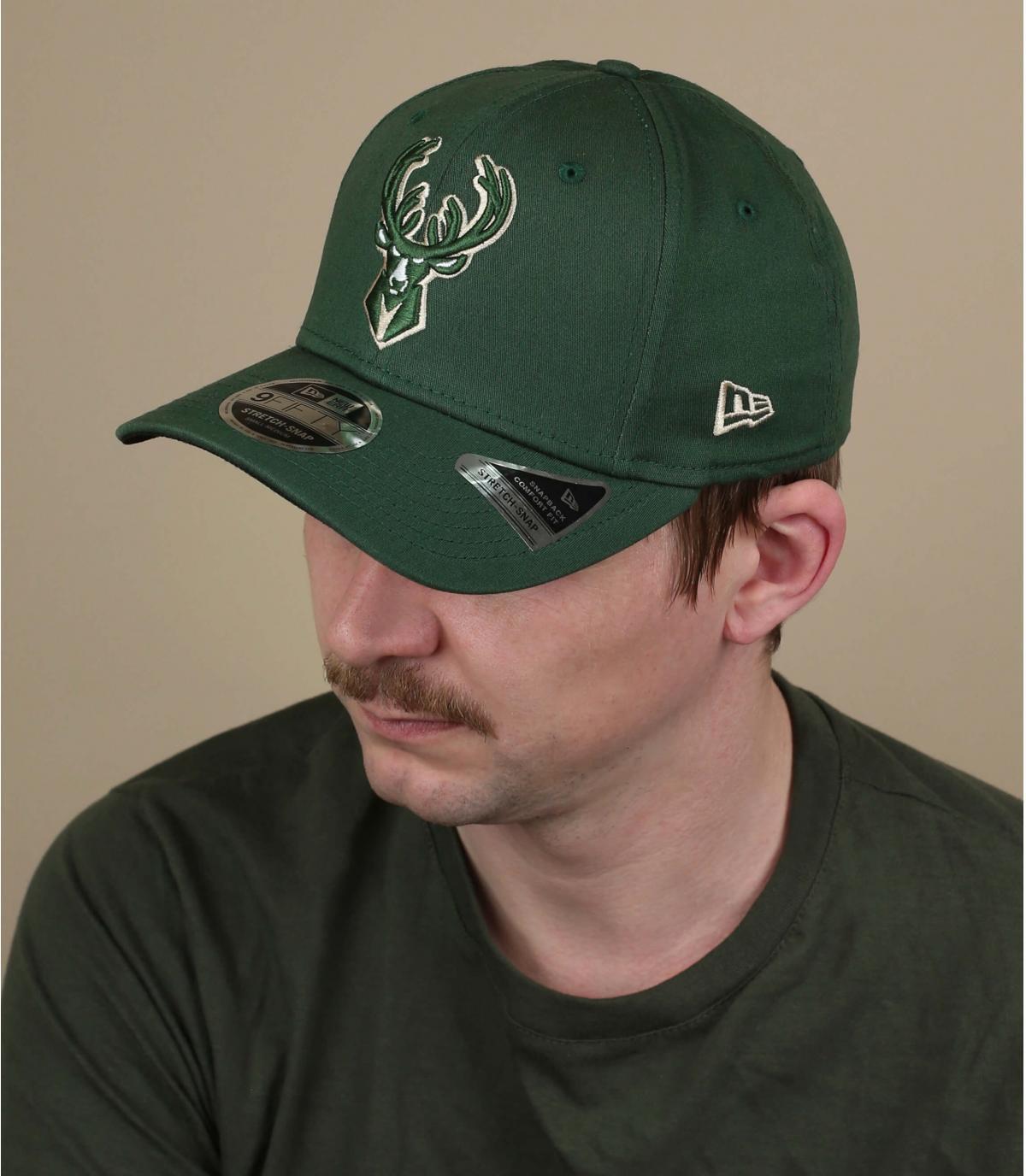 green Milwaukee Bucks cap