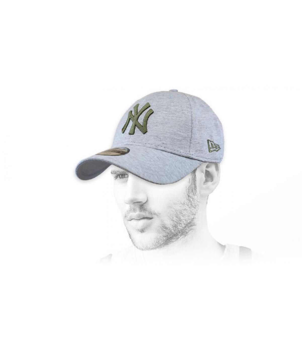 grey green NY cap