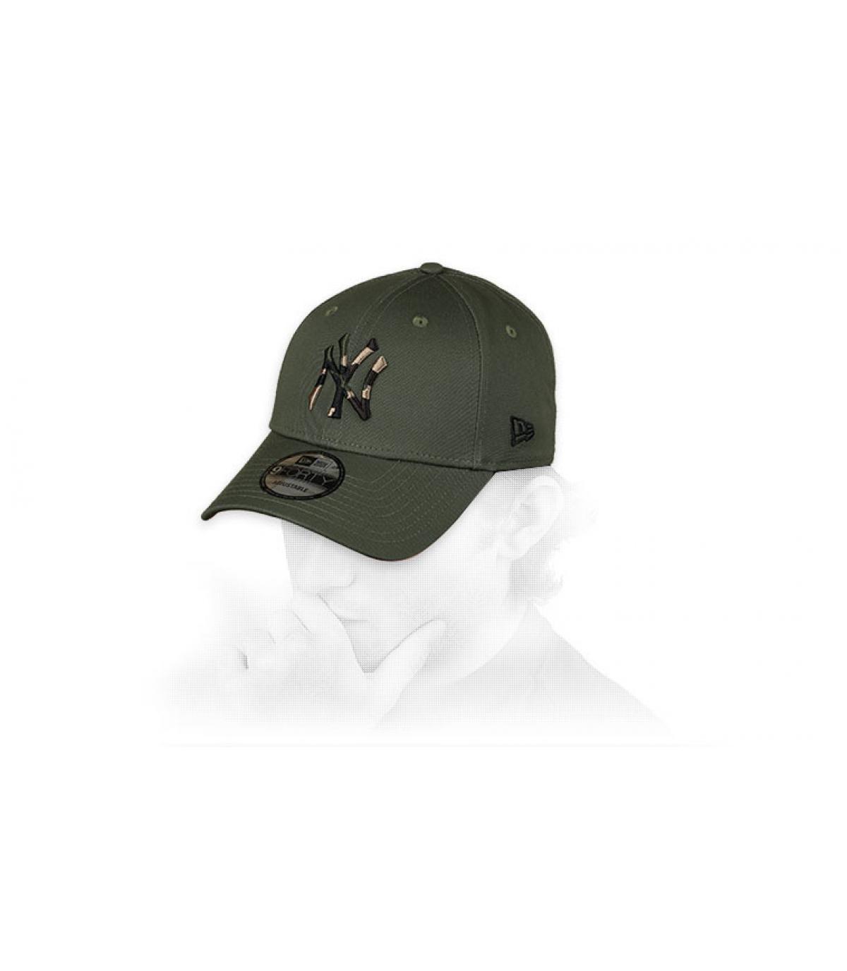 green camo NY cap