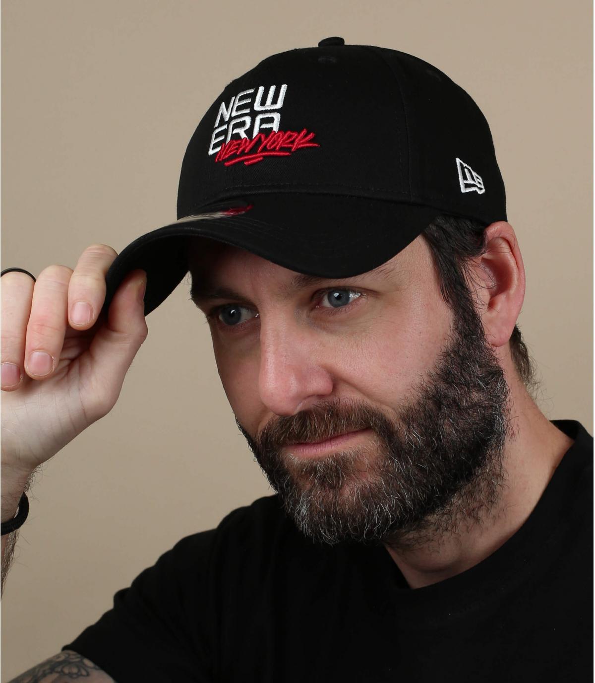 black New Era cap