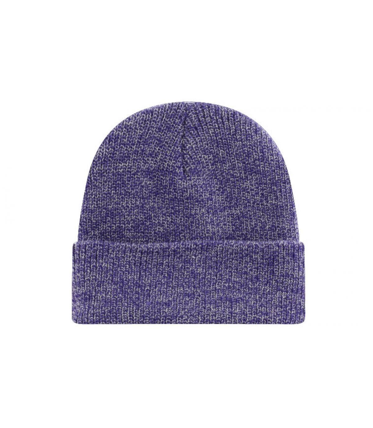 heather purple beanie
