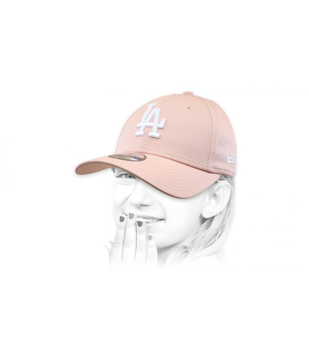 pink LA cap kid