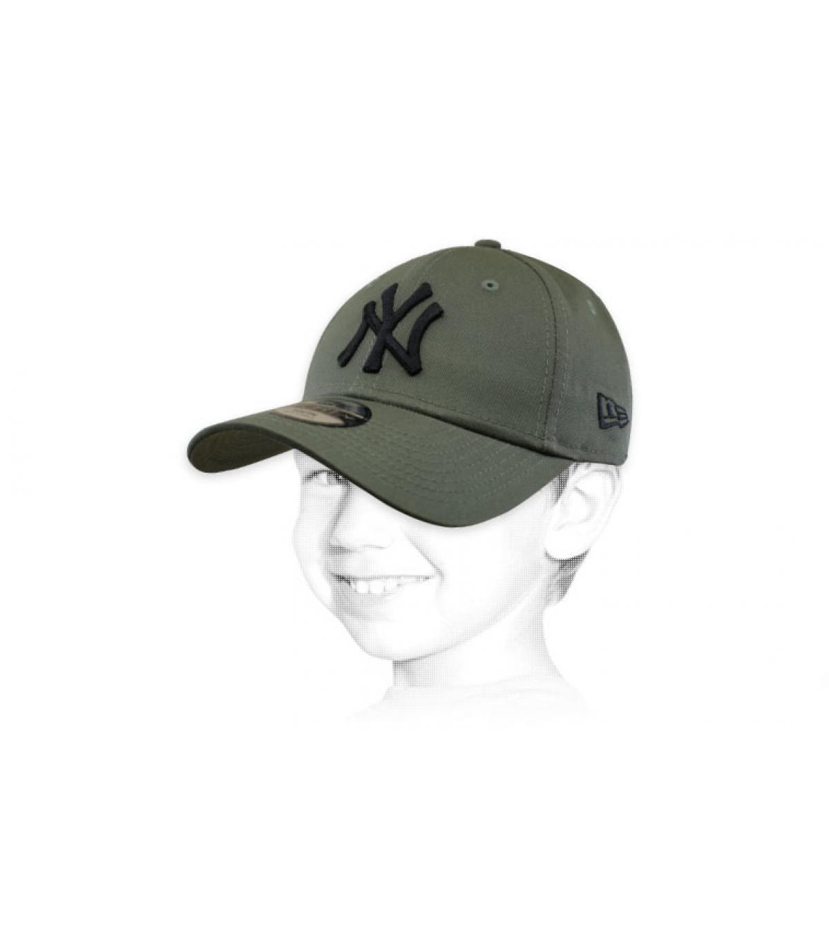 green NY child cap