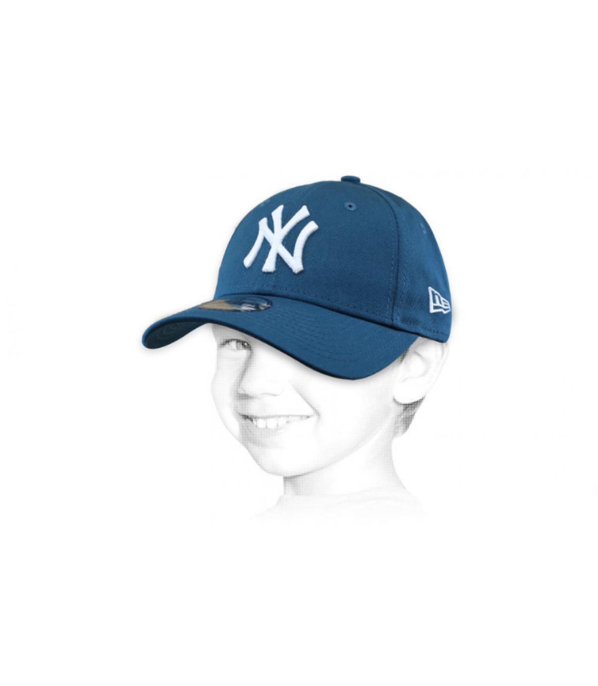 blue NY kids cap