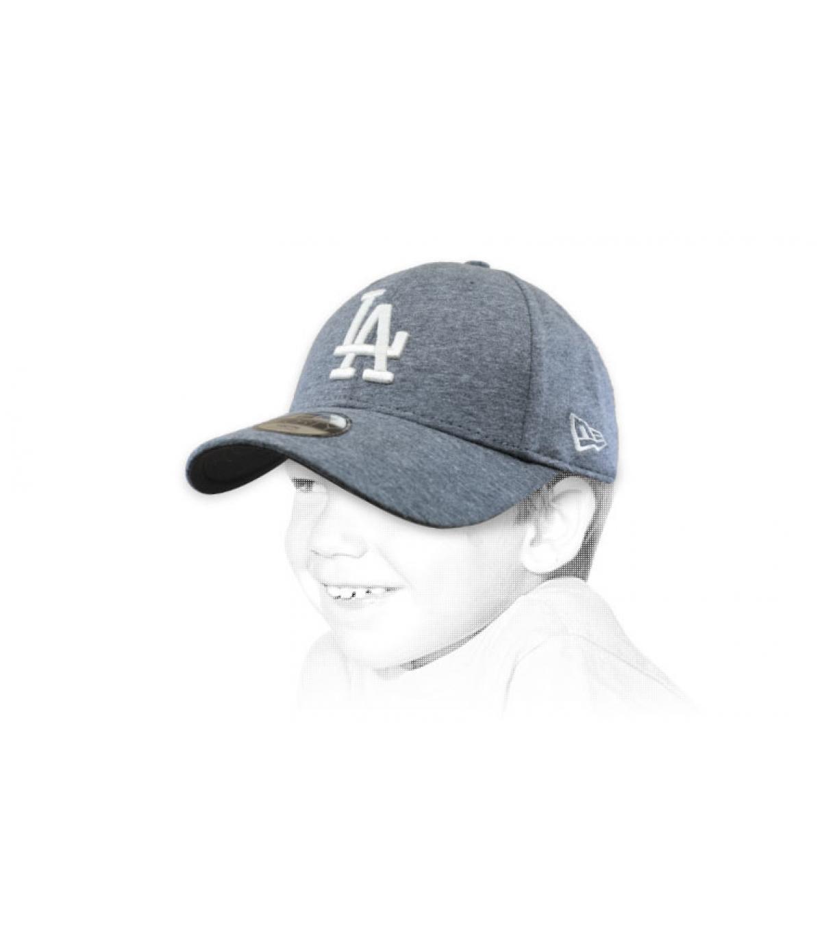 grey LA child cap