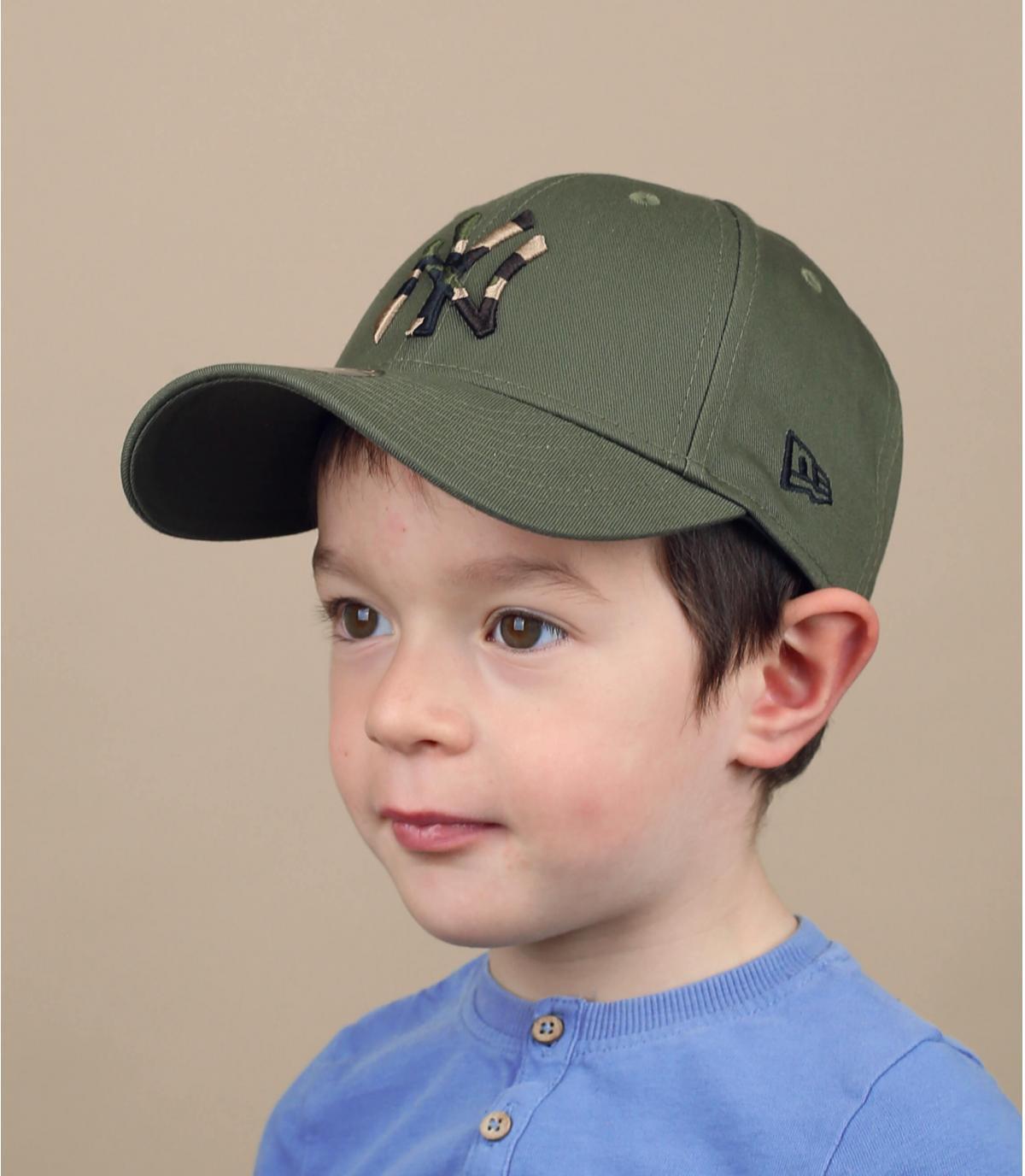 green camo NY children cap