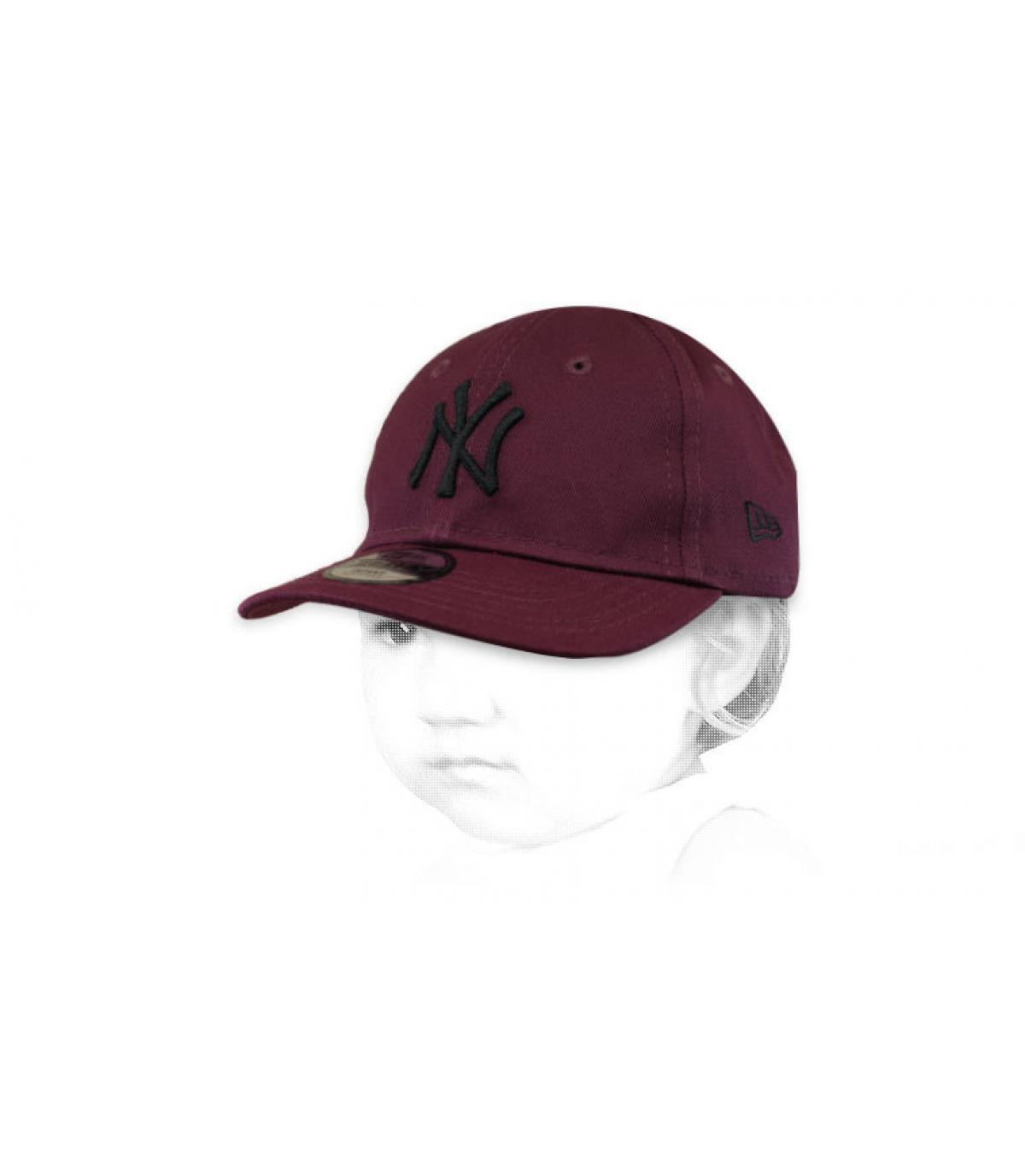 baby burgundy NY cap