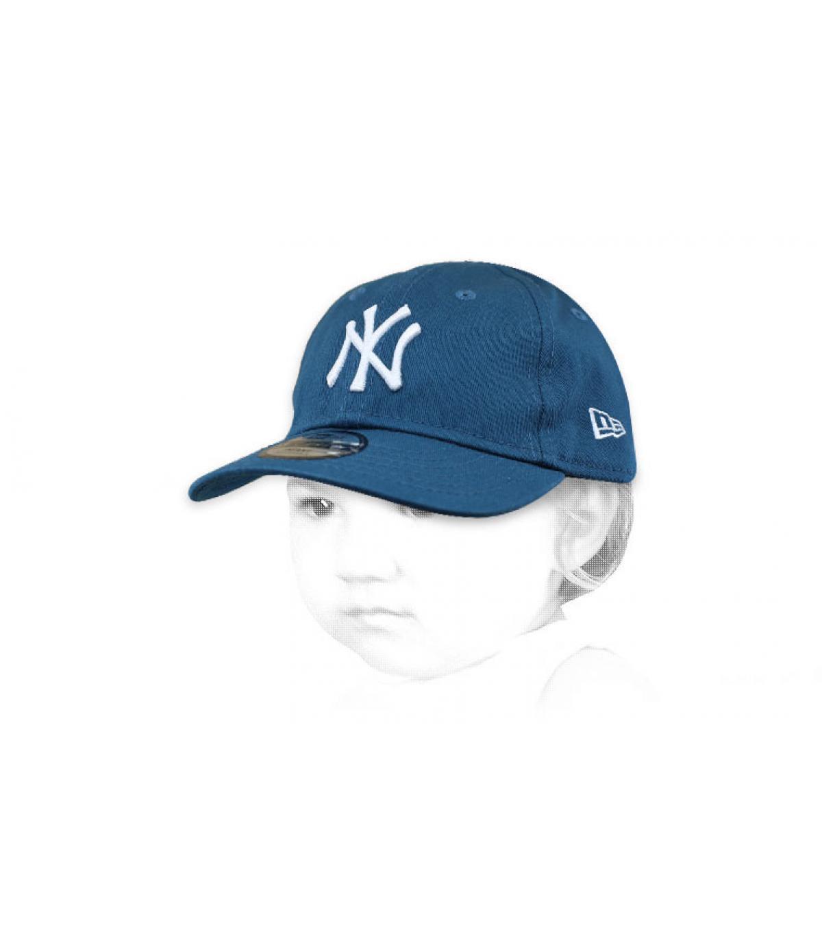 baby blue NY cap