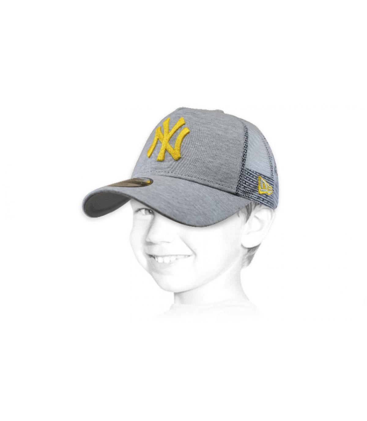 grey yellow NY trucker kids
