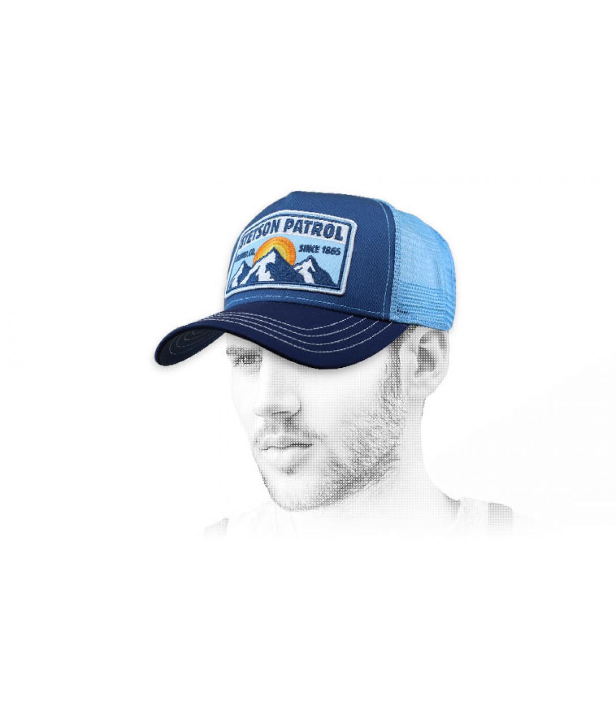 blue Stetson trucker cap