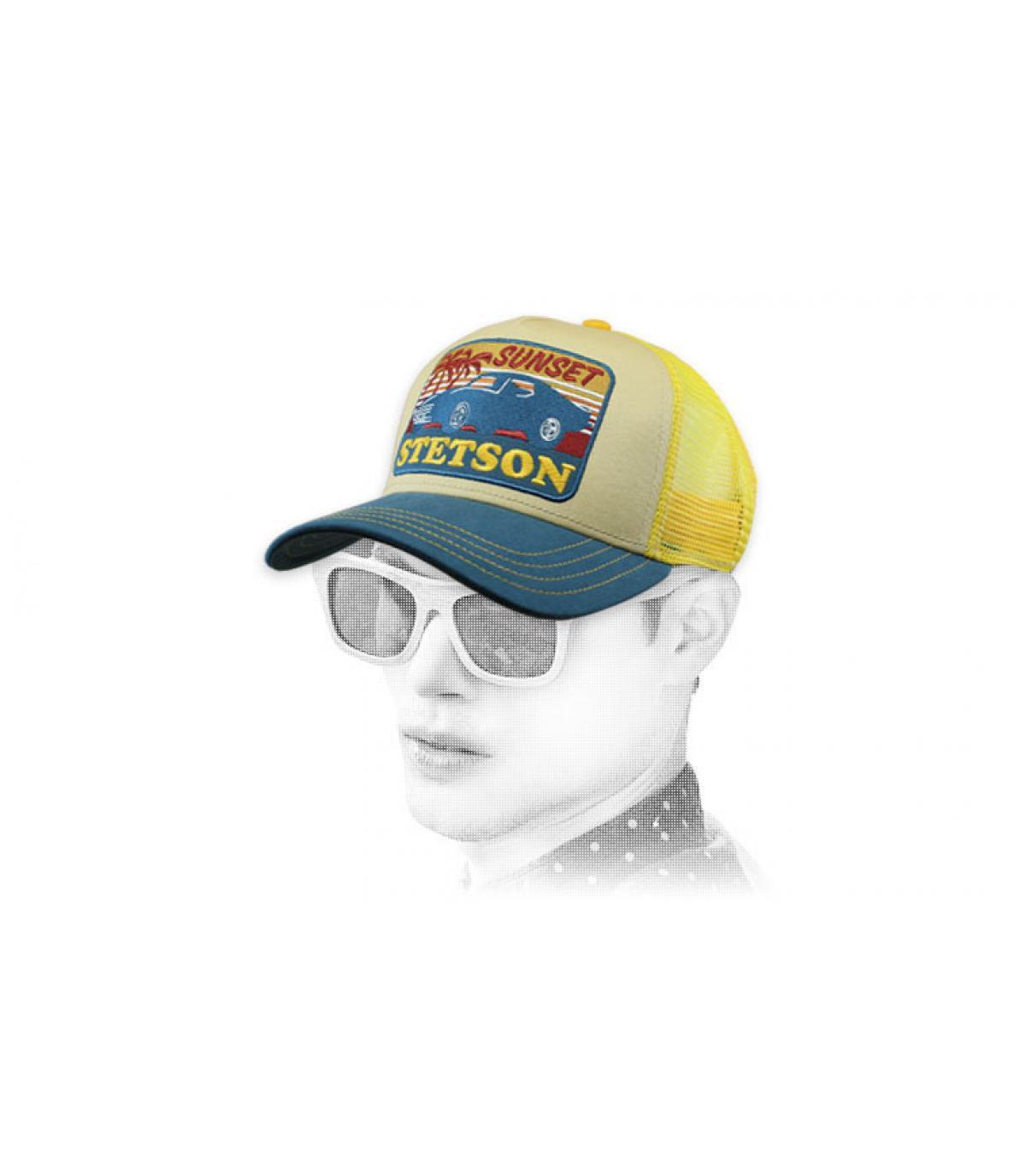 yellow Stetson trucker